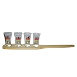 Shot Paddle for 4 shots (glasses not included!)
