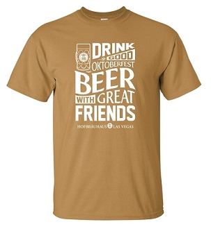 2018 HB Oktoberfest Beer Tee Old Gold