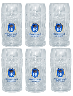Case Pack- Hofbräuhaus Las Vegas Glass Stein 1.0L (34 oz)