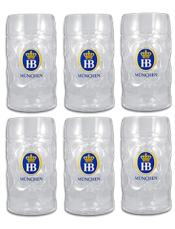 Case Pack- HB München Glass Stein 1.0L (34 oz)