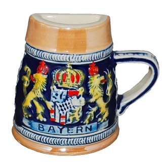 Beer Stein Magnet - Crown with Lions