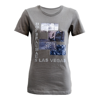 Metallic Pic Tee Warm Gray