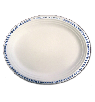 HB Oval Paper Platters (25 CT)