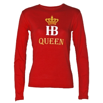 HB Queen Tee Red_LS