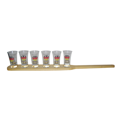 Shot Paddle for 6 shots (glasses not included!)