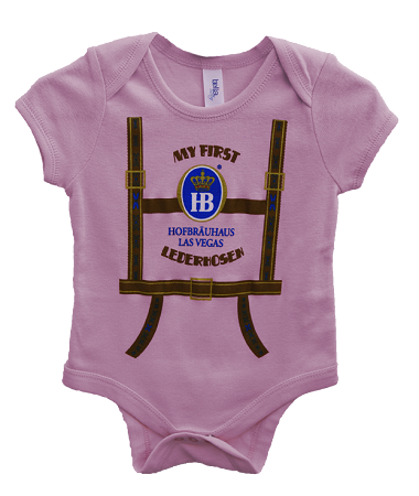 Light Pink onesie in L-Pants design