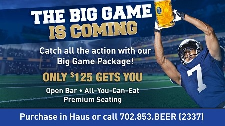 BIG GAME PACKAGE - $125.00 + Tax