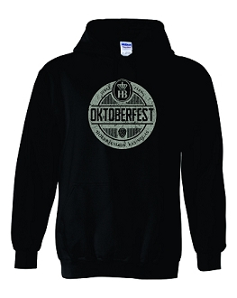 2019 HB Oktoberfest Round Design Hooded Sweatshirt Black
