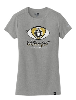 Ladies Oktoberfest 2019 I Love HB Tee Gray