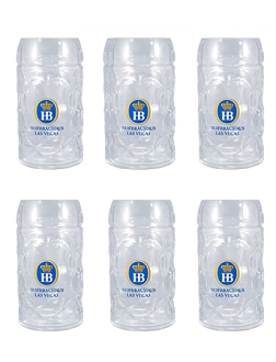 Case Pack- Hofbräuhaus Las Vegas Glass Stein 0.5L (17 oz)