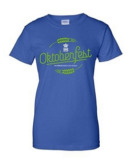 Ladies 2017 HB Oktoberfest Tee Royal
