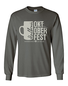 Long Sleeve 2017 HB Oktoberfest Mug Tee Charcoal