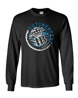 Long Sleeve 2017 HB Oktoberfest Circle Tee Black