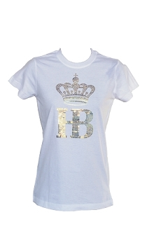 HB Sequin Tee White