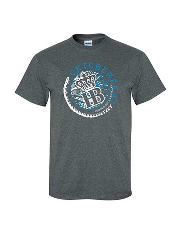 2017 HB Oktoberfest Circle Tee Heather Gray