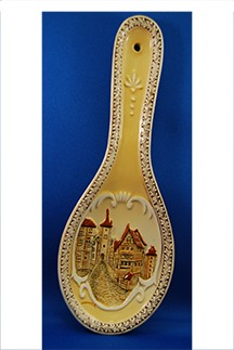 "Embossed Spoon Rest ""German Town"""